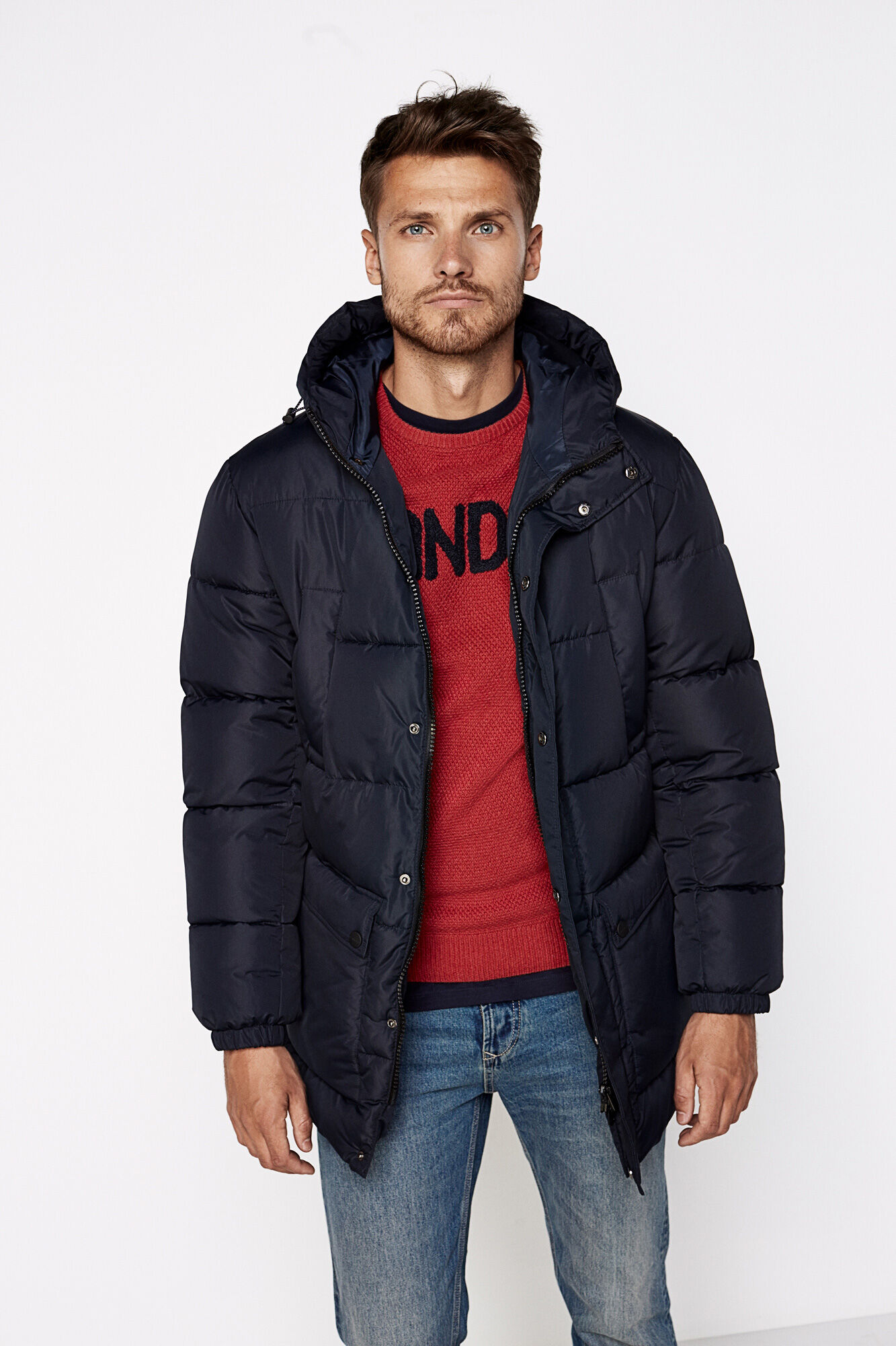 WATER REPELLENT MID-LENGTH QUILTED PARKA | Coats | Springfield Man ... : quilted parka jacket - Adamdwight.com