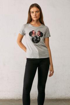 Springfield Reconsider Minnie sequins T-shirt grey