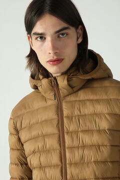 Springfield Detachable hood quilted thermal jacket beige