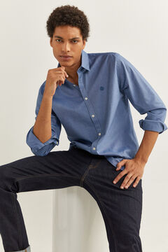 Springfield STRETCH PINPOINT SHIRT royal blue