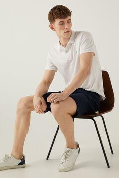 Springfield 5 pocket slim distressed Bermuda shorts blue