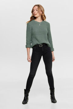 Springfield Textured jersey-knit jumper green