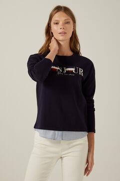 Springfield Organic cotton Bonjour sweatshirt indigo blue