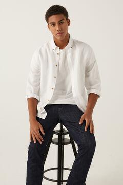 Springfield Camisa linho branco