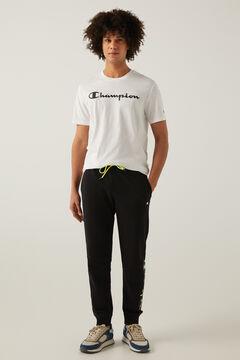 Springfield Pantalón jogger recto negro