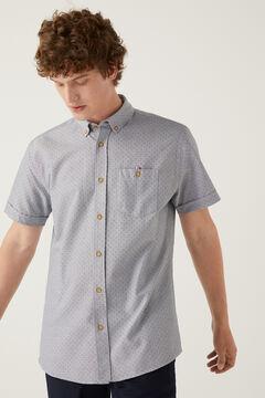 Springfield Short-sleeved printed shirt grey