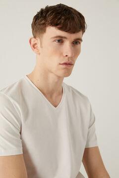 Springfield T-shirt bico slim branco