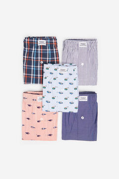 Springfield 5-PACK FISH WOVEN BOXERS red
