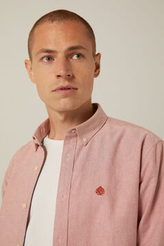 Springfield Camisa Oxford color terracotta