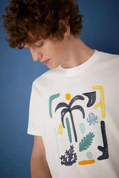 Springfield Abstract T-shirt white