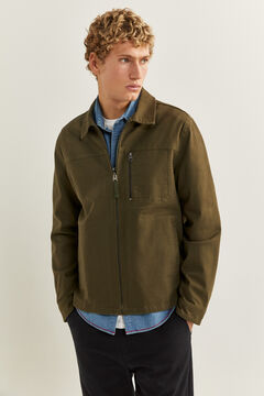 Springfield Faux Leather Jacket para Hombre