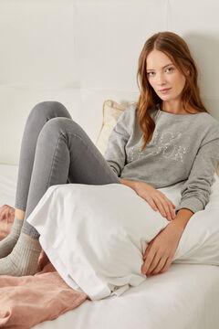 "Springfield ""Mon Amour"" Pearls Sweatshirt grey"