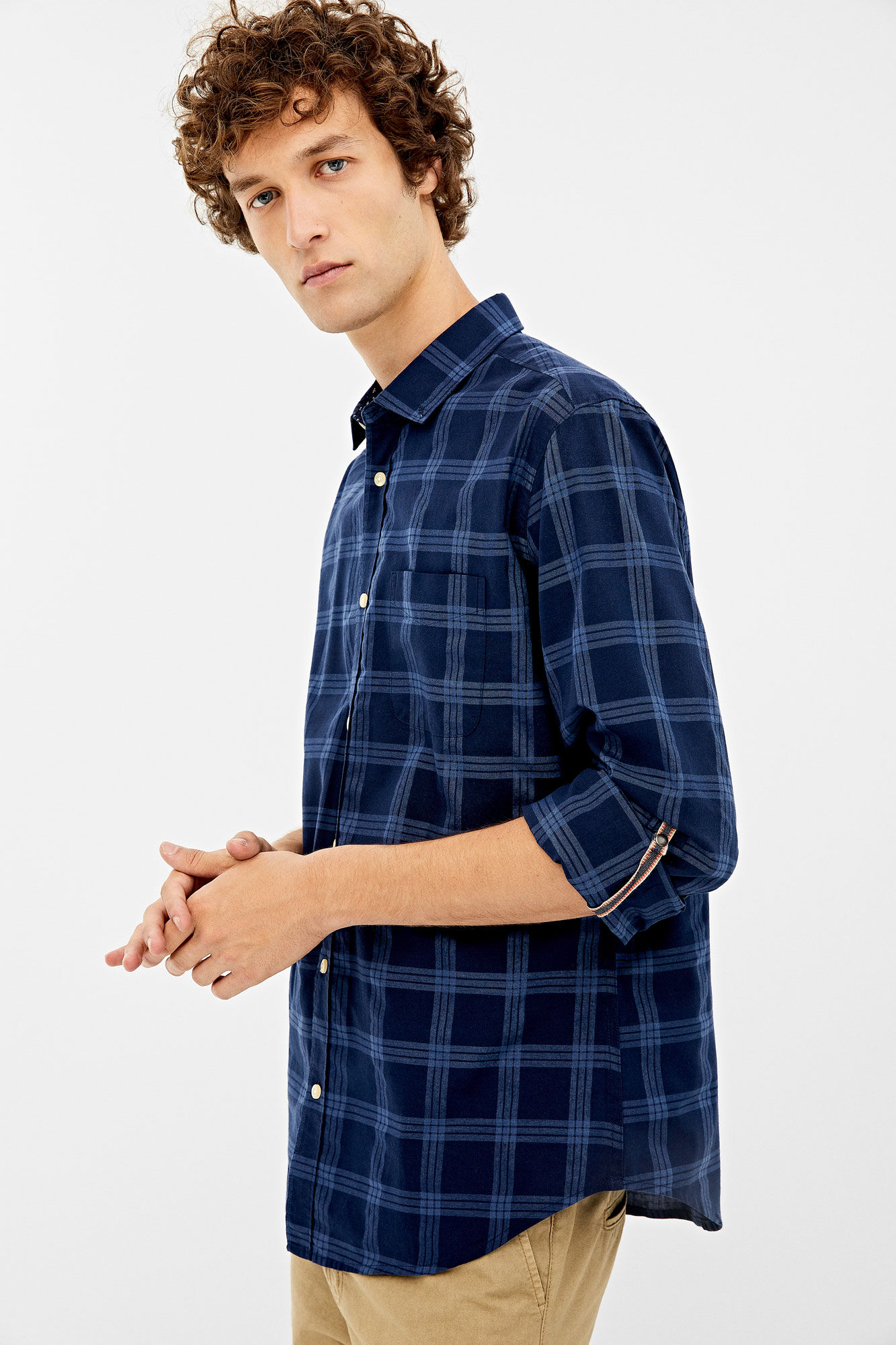 Springfield Frq Gingham Check Camisa Casual Hombre