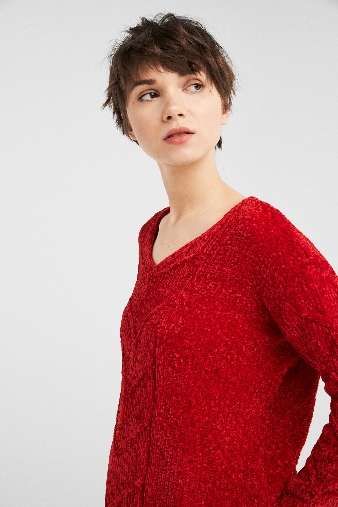 classic style get new special section Pull chenille rouge