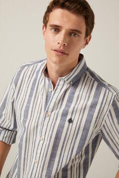 Springfield Leichtes Hemd Streifen marineblau