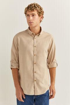 Springfield Textured shirt stone