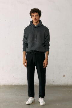 Springfield Comfort knit chinos black