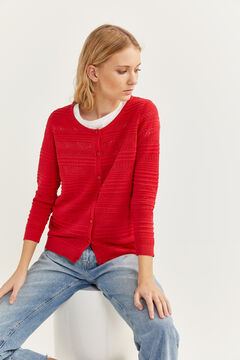 Springfield Openwork cardigan royal red