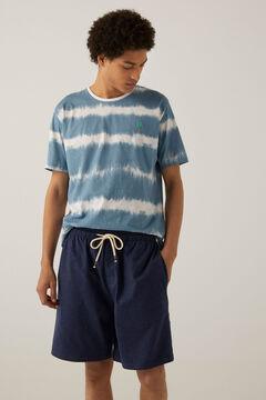 Springfield Tie dye jersey-knit short pyjamas bluish