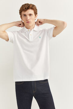 Springfield ESSENTIAL PIQUE POLO SHIRT white