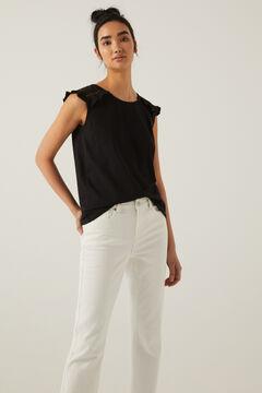 Springfield T-shirt épaules crochet noir