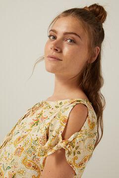 Springfield Organic cotton off-the-shoulder blouse medium beige