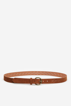 Springfield Velvet Cutwork Belt brown