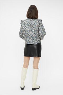 Springfield Short faux leather skirt schwarz