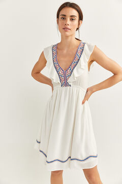 Springfield Border Embroidery Dress medium beige