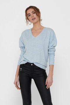 Springfield V-neck jumper bluish
