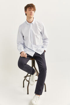 Springfield Striped slim fit shirt white