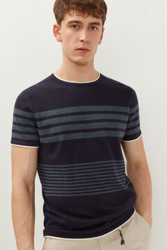 Springfield Jersey-knit striped t-shirt navy
