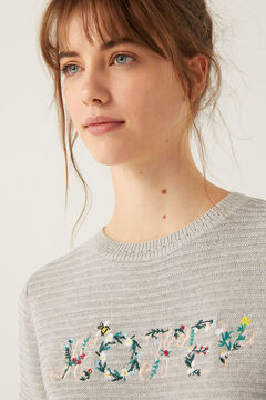 "Springfield ""Hope"" Floral Embroidery Jumper grey"
