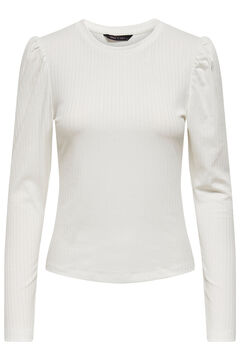 Springfield T-shirt manga abaloada branco