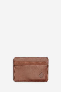 Springfield Faux leather and suede card holder brown
