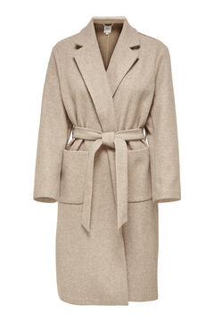 Springfield Long belted coat gray