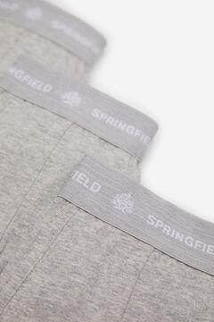 Springfield 3ER-PACK BOXERSHORTS KLASSISCH silber