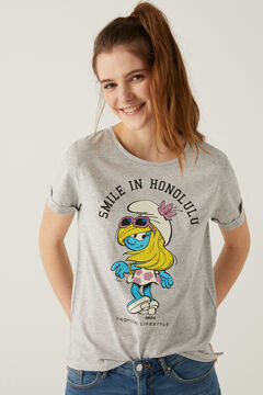 Springfield Smurfette t-shirt grey