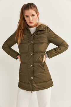Springfield Long Feather Coat green