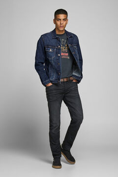 Springfield Sustainable denim jacket bleuté
