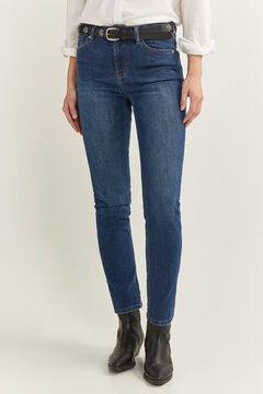 Springfield Pantalon Denim Straight blau