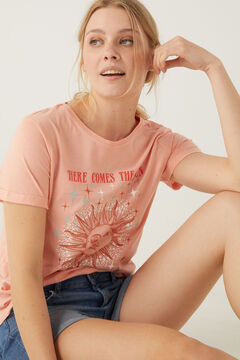 Springfield Reconsider Here Comes the Sun T-shirt pink