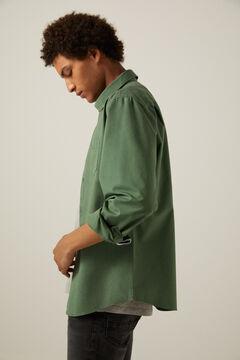 Springfield Coloured shirt dark green
