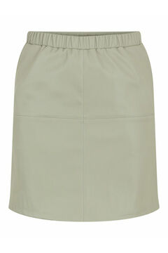 Springfield Short faux leather skirt gray