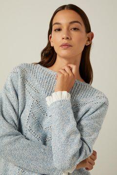 Springfield Reconsider twisted yarn openwork jumper bluish