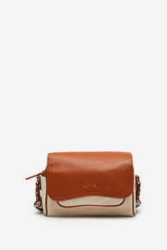 Springfield Combined canvas shoulder bag beige