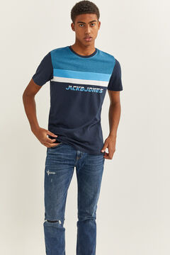Springfield Sustainable t-shirt with central logo navy
