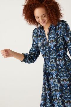 Springfield Midi-Kleid Ethno-Print blau