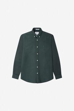Springfield Coloured Oxford shirt dark green