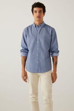 Springfield Camisa pinpoint stretch marinho mistura